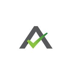A letter check mark logo lettermark monogram type vector