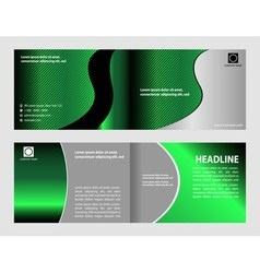 Abstract Brochure Template Flyer Layout vector image