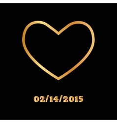 Abstract golden heart icon vector image