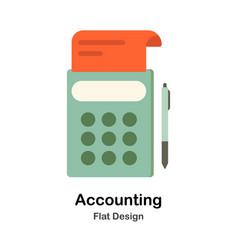 Accounting flat vector