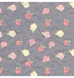 album cover flowers paper texture vector image