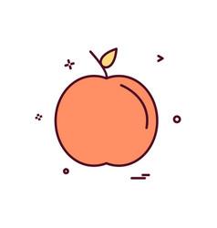apple school icon design vector image