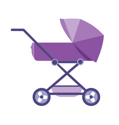 Beautiful modern baby stroller for transporting vector