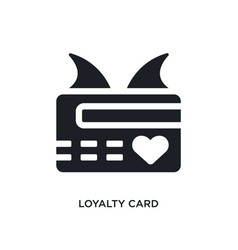 Black loyalty card isolated icon simple element vector