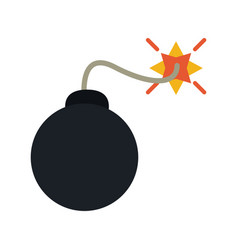 bomb cartoon icon image vector image