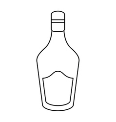 bottle cream whiskey liqueur icon outline vector image vector image
