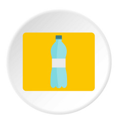 bottle of water icon circle vector image