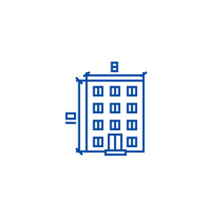buildingarchitecture project line icon concept vector image