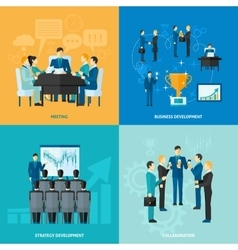 Business flat set vector