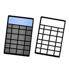 Calculator with a sketch vector