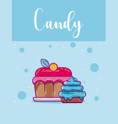 Candy snack concept vector