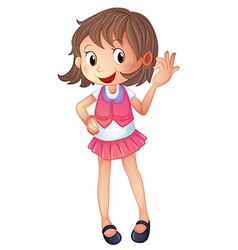 Cartoon Smiling Girl vector image