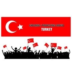 Cheering or Protesting Crowd Turkey vector