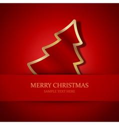 Christmas tree applique vector image