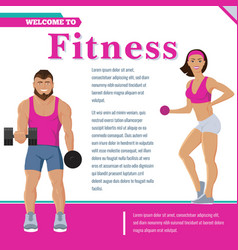 colorful sport and fitness poster vector image