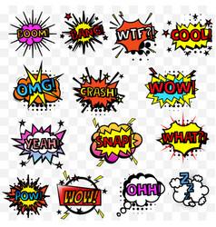 Comic speech sound replicas set vector
