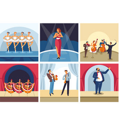concerts dancing and singing show opera and ballet vector image