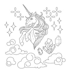 cute graphic unicorn vector image