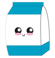 cute milk on white background vector image