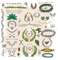 Decorative floral vintage vector