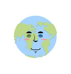 Earth sleeping emoji planet asleep emotion vector
