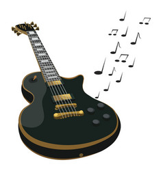electric guitar makes a sound colored guitar vector image