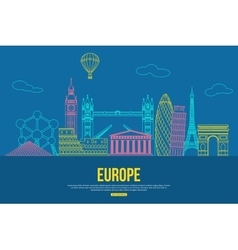 Europe travel background with place for text vector