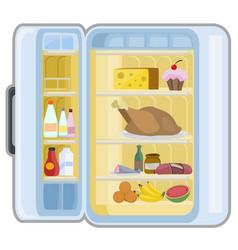 Food refrigerator cartoon vector