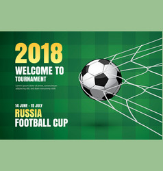 football 2018 world championship background vector image