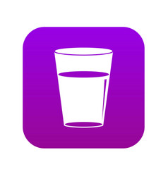 glass water icon digital purple vector image