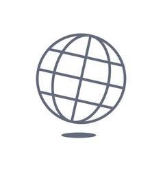 globus black and white icon vector image