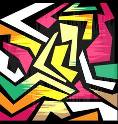 Graffiti colorful background vector