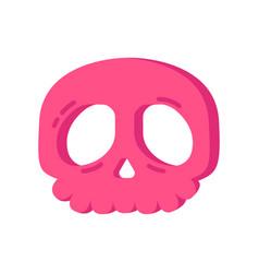 Halloween pink skull cookie vector