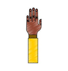 hand human up isolated icon vector image
