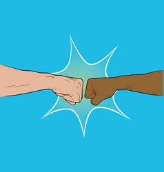 hand shake punch vector image