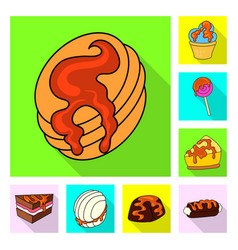 isolated object of confectionery and culinary vector image