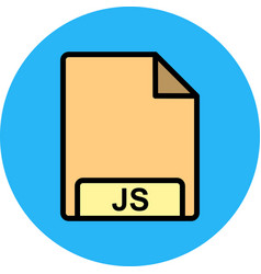 Js icon vector