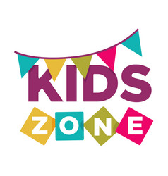 Kid zone playground or children education vector