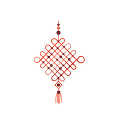 Macrame made of cotton cord and beads wall vector