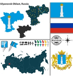 Map of Oblast of Ulyanovsk vector