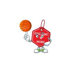 Mascot christmas discount tag cartoon character vector