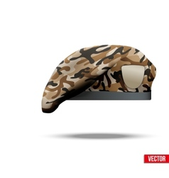 Military Camo Beret Special Forces vector image