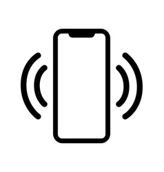 Mobile phone or smartphone ringing icon vector
