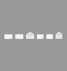 mockup letter paper envelope for letter white vector image