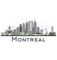 Montreal canada city skyline with gray buildings vector