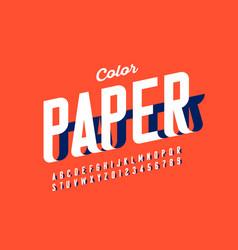 Paper craft style fon vector