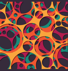 Paper cut out background with 3d effect circles vector