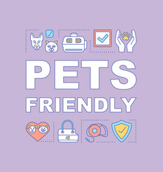 pets friendly hotel word concept banner vector image