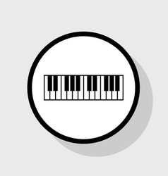 piano keyboard sign flat black icon in vector image