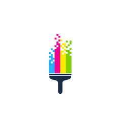pixel paint logo icon design vector image